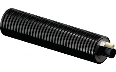 Труба Uponor Ecoflex Supra MIDI теплотрасса 32X2,9/90 с кабель-каналом 16X2,8 (1092980)