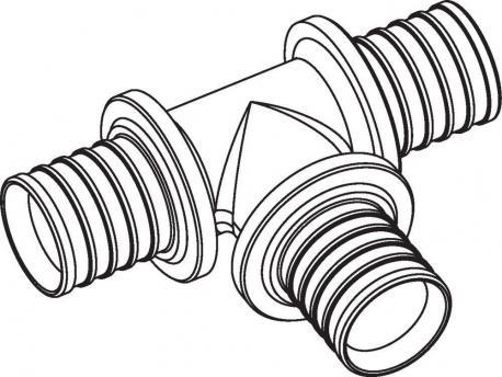 Тройник Rehau Rautitan равнопроходный 63-63-63 RX