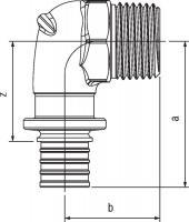 Угольник-переходник Rehau Rautitan с наружной резьбой 32-R 1 RX