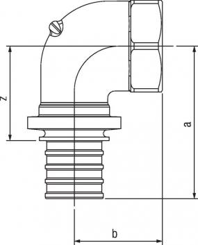Угольник-переходник Rehau Rautitan с внутр резьбой 16-Rp 1/2 RX