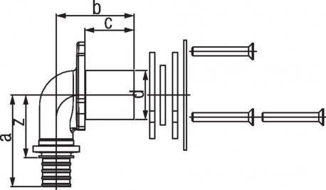 Угольник настенный Rehau Rautitan для гипсокартонных плит 20–Rp 1/2 RX