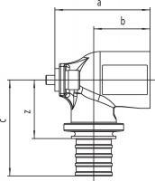 Настенный угольник Rehau Rautitan с внутр резьбой 16-Rp 1/2 короткий SX