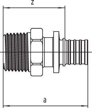Переходник Rehau Rautitan с наружной резьбой 25 - R 3/4 SX
