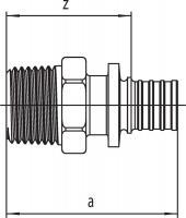 Переходник Rehau Rautitan с наружной резьбой 16 - R 1/2 SX