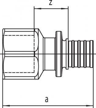 Переходник Rehau Rautitan с внутр резьбой 16-Rp 1/2 SX