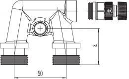 Замыкающий участок Rehau Rautitan с воздухоотводчиком (монтажный шаблон)