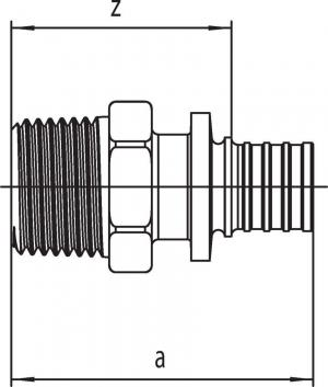 Переходник Rehau Rautitan с наружной резьбой 20 - R 3/4 SX