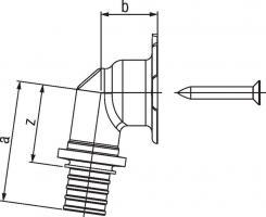 Настенный угольник фланцевый Rehau Rautitan 16-Rp 1/2 RX